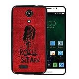 Zopo Speed 7 ZP951 Hülle, WoowCase Handyhülle Silikon für [ Zopo Speed 7 ZP951 ] Rock Star Mikrofon Handytasche Handy Cover Case Schutzhülle Flexible TPU - Schwarz