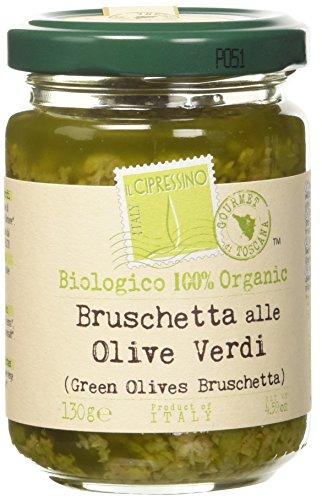 Il Cipressino Bruschetta alle Olive Verdi Bio - 6 Vasetti da 130 gr