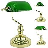 Bankerlampe Tischlampe Bankers Lamp Schreibtischlampe Tischlampe Banker Lampe Büro Vintage Kunststoff H: 36 cm