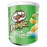 Pringles Sour Cream and Onion Flavour Potato Chips, 40g, (Pack of 12)