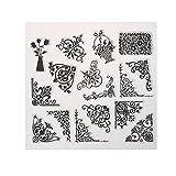 Amazingdeal365 Mit Vielfalt-teilig ! Silikonstempel Set - Blumen Kunst- Clear Stamps - Stempel...