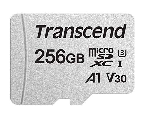Transcend 256 GB Premium 300S Scheda di memoria microSDHC Classe 10, U1, UHS-I, con adattatore, confezione ecologica TS256GUSD300S-AE