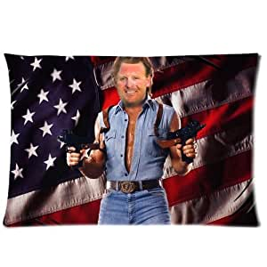 Coutume Chuck Norris Pillowcase Taie D'oreiller 20x30 ( One Side Design ) 5677