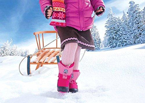 DEMAR Kinder Winterstiefel mit WOLLE gefüttert DOGGY Dunkelblau