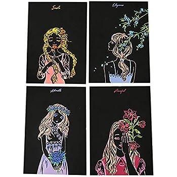 Fairylove Kratzbilder f/ür Kinder Kratzbilder Art Malerei DIY Magic Painting Papiere mit Holzstab f/ür Erwachsene und Kinder Handgefertigt Gekritzel Kratzerpapier f/ür Inneneinrichtungen