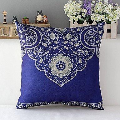 lumimi país estilo tradicional porcelana patrón funda de almohada