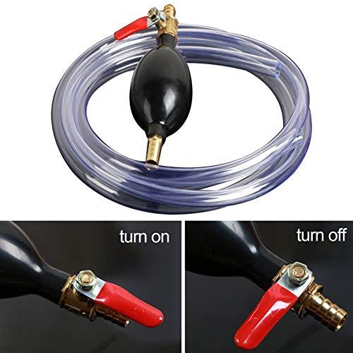 newhashiqi, Tubo per Pompa dell'olio, in PVC, sifone Manuale per Auto, Moto, Liquido per trasferimento di Olio, Carburante, Benz