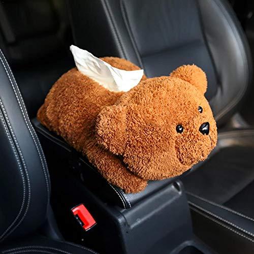 Auto Tissue Holder, Cartoon Tier Design Plüsch Serviette Tissue Box Fall Halter Abdeckung, für Auto Armlehne Kopfstütze Dekoration - Servietten Fall
