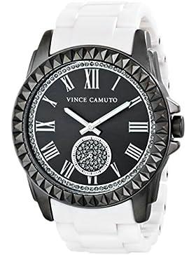 Vince Camuto Damen-Armbanduhr Analog Quarz Keramik VC-5191GYWT