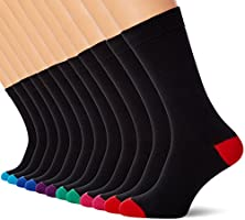 Mens Socks (12 Pack) Cotton Rich, Comfortable, Breathable, Designer Mens Socks