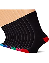 Mens Socks (12 Pack) Cotton Rich, Comfortable, Breathable, Designer Mens Socks