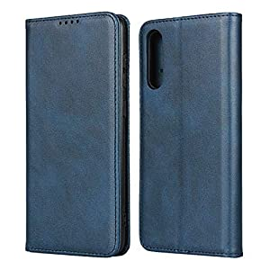 FAWUMAN Wallet Phone Case,Premium Leather Flip Cover with Kickstand,Magnets closure and Credit Slots for Samsung Galaxy A70S (Blue)   1