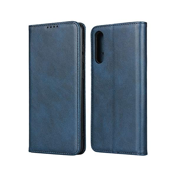 FAWUMAN Wallet Phone Case,Premium Leather Flip Cover with Kickstand,Magnets closure and Credit Slots for Samsung Galaxy A70S (Blue) FAWUMAN 1. PREMIUM QUALITY: Made of high quality Leather+TPU, firm and durable; precise cutouts ensure full access to ports and function buttons, speakers and camera. 2. WALLET CASE features 3 card slots plus a cash compartment underneath, combines your wallet and phone case into one handy unit. 3. HIDDEN MAGNETS keep the case closed Full Body Protection, protect the phone screen from scratch or broken when you put it in bag with your keys etc; 1