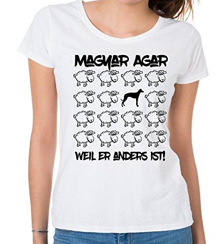 Siviwonder WOMEN T-Shirt BLACK SHEEP - MAGYAR AGAR Ungarn Jagd - Hunde Fun Schaf Weiß