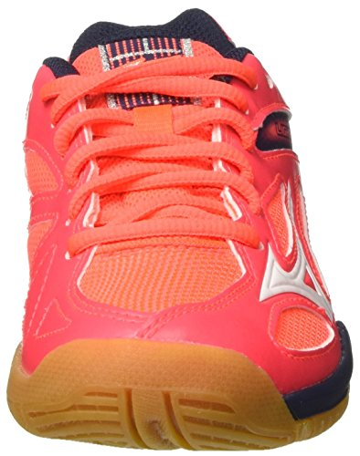 Mizuno Lightning Star Z3 Jnr, Scarpe Indoor Multisport Unisex – Bambini Multicolore (FieryCoral/White/DressBlues)