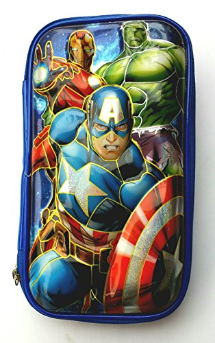 MSGH BIG SIZE Multi Purpose Pencil Pen Case Storage Box Holder 5D Pencil Pouch Pencil Box For Boys And Girls (AVENGER)