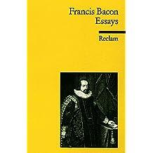 Essays oder praktische und moralische Ratschläge (Reclams Universal-Bibliothek)