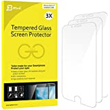 iPhone 6s Protection écran, JETech Compatible fonction 3D Touch 3-Pack Film Protection en Verre trempé écran protecteur ultra résistant Glass Screen Protector pour Apple iPhone 6 et iPhone 6s 4.7