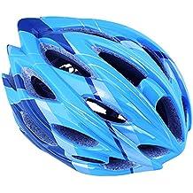 GranVela® A012bicicleta casco, adultos jóvenes carretera/montaña ciclismo casco de seguridad, ultraligero Integrally-molded, azul