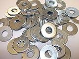 50x 3/40,6cm Tisch 4schwere flach Stahl Unterlegscheiben UNC UNF BSF für IMPERIAL Schrauben Bright Zink versilbert BZP