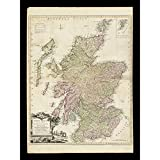 Kitchin 1778 Map Scotland Counties North Britain Extra