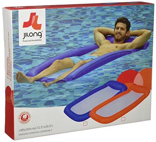 Jilong Mesh Floater 180x80cm Wasser Luftmatratze Pool-Hängematte Poolliege Wasserliege Water-Lounge Badeinsel Schwimminsel, Süßwasser & Salzwasser geeignet (sortiert - Farbauswahl nicht möglich)