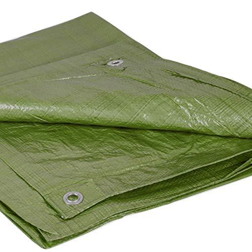 Abdeckplane Holz 6x8m grün | Plane für Garten Outdoor Camping | 90g/m² Gewebeplane mit Ösen