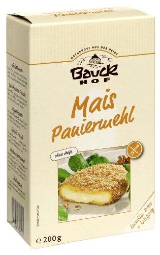 Hefe Glutenfrei (Bauckhof Mais-Paniermehl ohne Hefe, 2er Pack (2 x 200 g Tüte) - Bio)