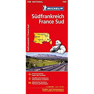 Michelin Frankreich Süd: Straßen- und Tourismuskarte (MICHELIN Nationalkarten, Band 725)