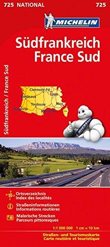 Michelin Frankreich Süd: Straßen- und Tourismuskarte (MICHELIN Nationalkarten) Karte Von Frankreich