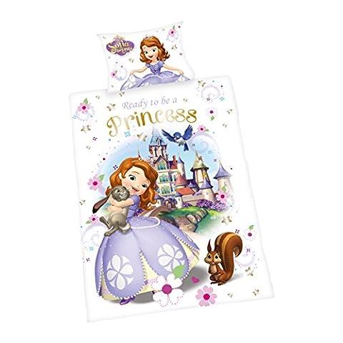 Herding 2479045063 Parure de Lit avec Imprimé Disney's Sofia La 1ère en Coton Multicolore 100 x 135 cm