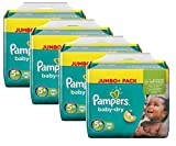 Pampers Baby Dry Größe 5+ Junior Plus 13-27kg Jumbo Plus Pack (4 x 68 Windeln)