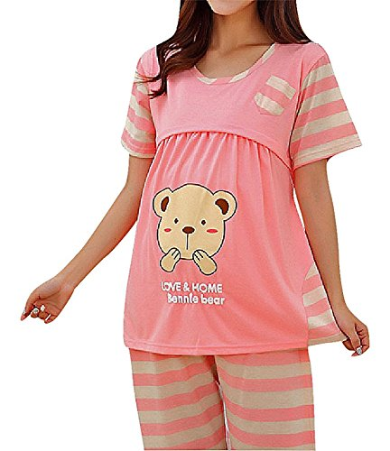 Romano Women's Feeding/Nursing/Maternity Top & Pyjama Set (Colour/Print Randomly Sent)