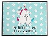 Mr. & Mrs. Panda Schreibtischunterlage Einhorn Mitteilung - 100% handmade in Norddeutschland - Einhorn, Einhörner, Valentinstag, Valentine, Liebe, Geschenk, Partner, Ehe, lustig, witzig, Spruch Schreibtischunterlage, Schreibtisch, Unterlage Einhorn, Einhörner, Valentinstag, Valentine, Liebe, Geschenk, Partner, Ehe, lustig, witzig, Spruch