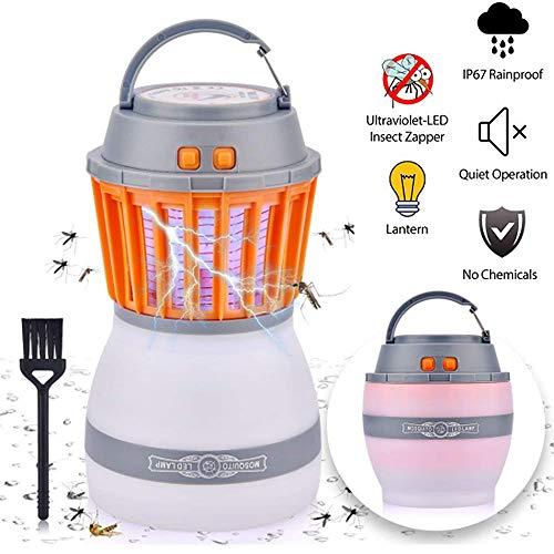 Lámpara Antimosquitos,Súper descarga eléctrica,Anti-mosquito e iluminando dos en uno,Luz de camping de Misha,Iluminación de emergencia, aptas para jardines, camping y actividades al aire libre