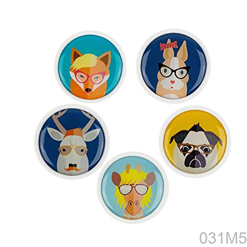 lavagna-magneti-da-frigorifero-031-m5-pezzi-assortiti-magneti-cani-e-animali-2-per-bambini-nursery-c