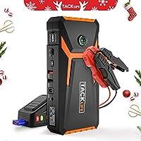 TACKLIFE T8 Arrancador de Coches - 800A Pico 18000mAh Jump Starter, Arrancador Baterias Coche (hasta 6.5L en Gas o 5.5L en Diesel) con Puertos de Carga Dual USB, Linterna LED
