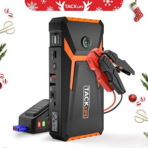 TACKLIFE T8 Booster Batterie - 800A 18000mAh Portable Jump Starter, Démarrage de Voiture (Jusqu'à 6.5L Essence 5.5L Gazole), Alimentation Eléctrique d'Urgence pour Voiture avec Lamp LED