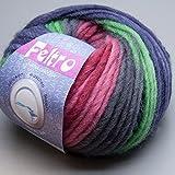 Lana Grossa Feltro Pastello multicolor Filzwolle Schurwolle Wolle freie Farbwahl (363 - Grün - Beere - Stahlblau) wärmflasche aus filzwolle stricken Anleitung: Gestrickte Filzhülle für Wärmflasche
