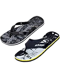 Indistar Boys Step Care Comfortable Flip Flop House Slipper And Hawaai Chappal Office Slipper-PRINTED BLACK- Pack...