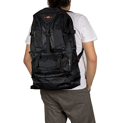 Zaino escursionismo grande da viaggio uomo trekking capiente campeggio outdoor leggero militare mimetico allungabile 40 litri con zip tasche in similtessuto h54(+10allungabile) xl35xp14