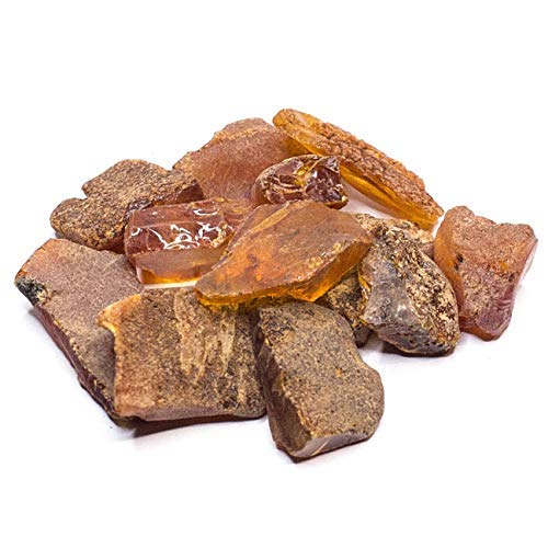 Amber Culture Raw Amber Stones Steine, Größe 0,03-0,09 Unzen, baltischer Bernsteinharz, echte und natürliche Zufälligkeit (Größe 0,03-0,09)