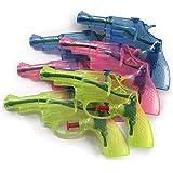 Eau Guns Jeu de 6 en trois couleurs transparentes - le plaisir arrosée de fête pour tous les âges !!!