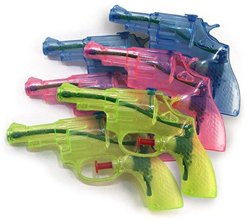 Wasserpistolen 6er Set in drei transparenten Farben - der feucht, fröhliche Partyspaß für Groß und Klein!!!
