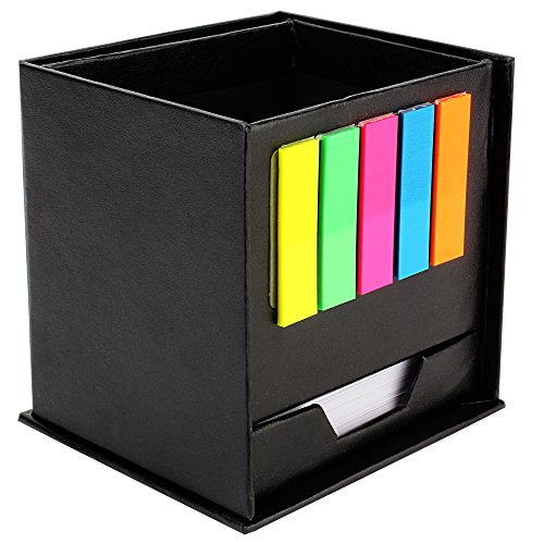 7Trees Rotating Pen Stand Stationery Storage With Sticky Note Pads