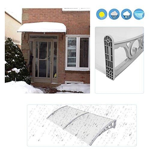 Tettoie da esterno,pensiline in policarbonato,pensiline ad arco per porta o finestra per esterno (100cm x 200cm)