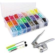 TSH Snap Pliers+360 Set Resin T5 Botones de Plástico Botón de Presión de Resina DIY 24 Colores