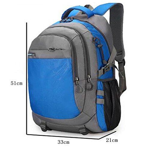 TUOZA Mens Outdoor-Camping Mit Großer Kapazität Multifunktions-Rucksack Blue