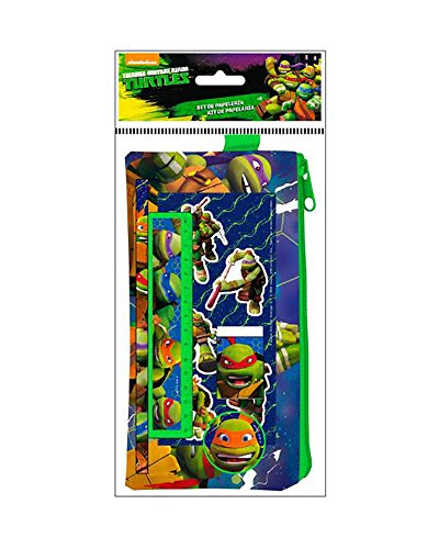 Tortugas Ninja Set de Estuche con 4 Piezas y Pegatinas