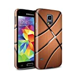 Stuff4® Glanz Snap-On Hülle/Case für Samsung Galaxy S5 Mini/Basketball Muster/Sport Bälle/Ball Kollektion